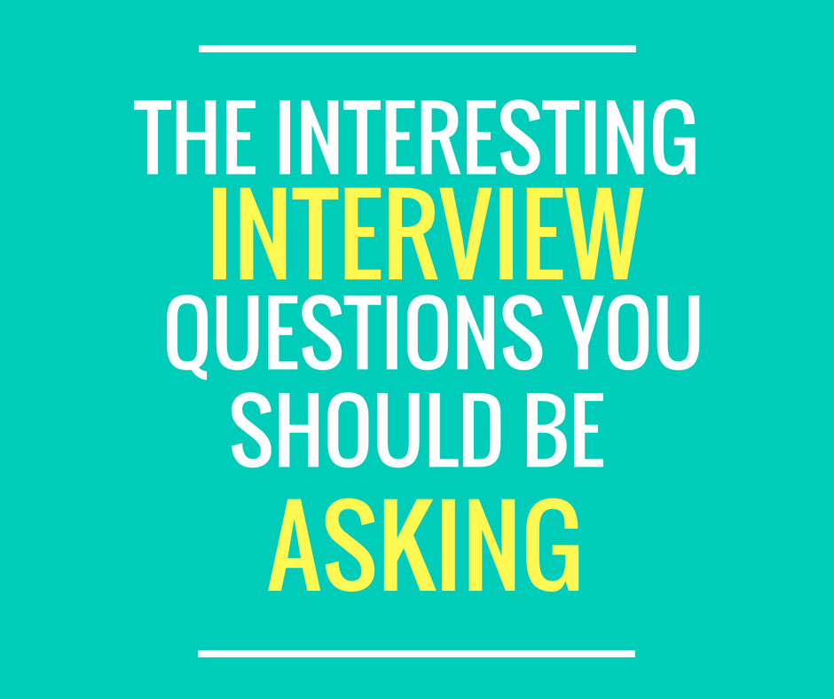 interesting job interview questions