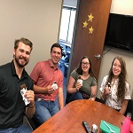 recruiters enjoying ice cream