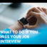 what to do if you miss your interview